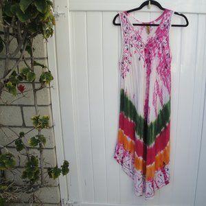 SunflowerGauze Free Size Rayon Crinkle Dress